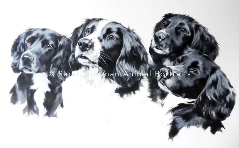 Group animal portrait